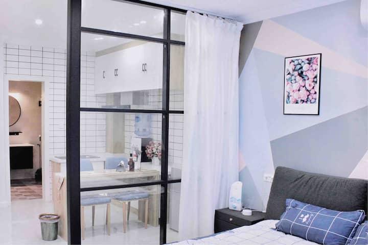 【N新·宿-十月】| 万达广场 | 万达公寓 | 45平北欧网红 | Ins风观景阳台 |