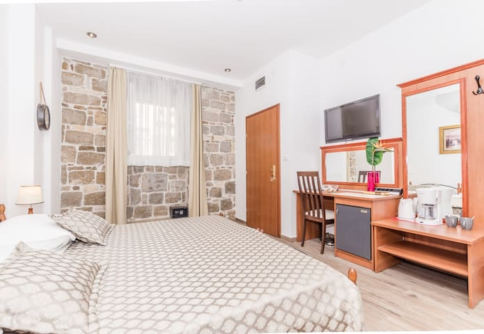 Amazing bedroom in traditional old Croatian house