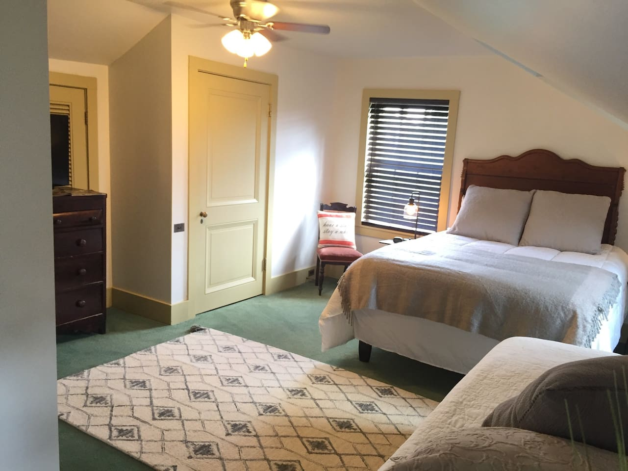 Our recently renovated Vivaldi Suite is located on the third floor - and many believe it to be the best room in the house!