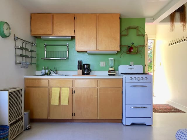 Kitchen with gas stove