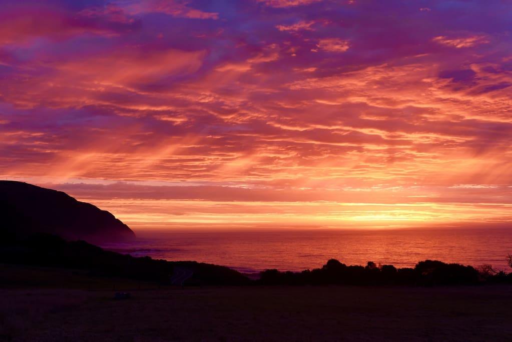 Stunning sunrise from Seacroft