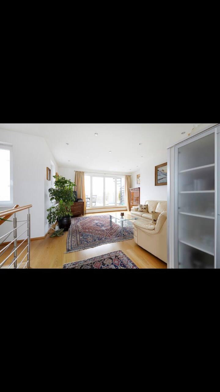 Luxuriöse Dachgeschosswohnung mit 2 Schlafzimmer