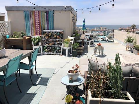 Sunny Rooftop Beach Spot