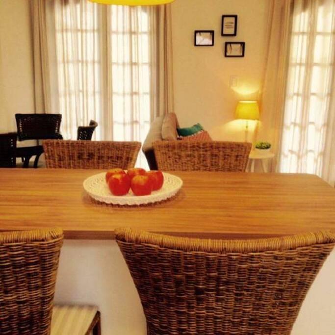 Área integrada sala/cozinha