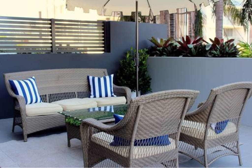 Relax and unwind in the private courtyard