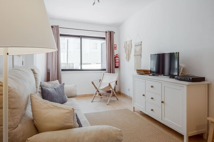 First Floor: Living room with sofa-bed (2Pax)