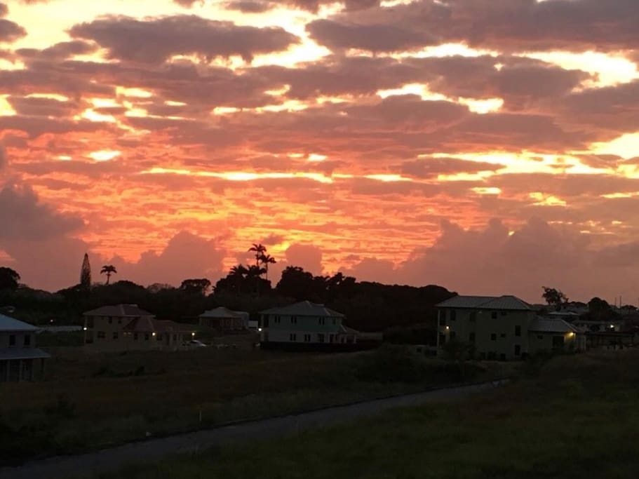 One of our gorgeous sunsets seen from the back patio