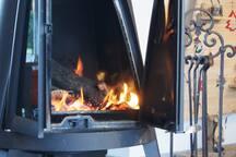 Le poêle central qui nous chauffe la maison...
