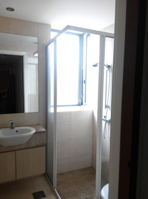 own exclusive use shower/toilet