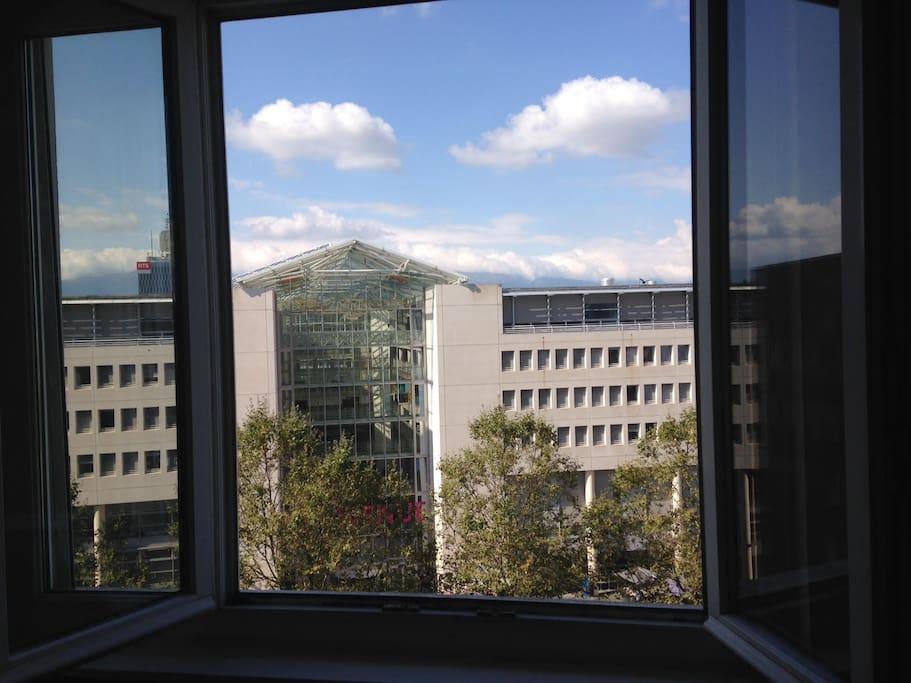 View from bedroom window - Univ of Geneva (UNIGE)