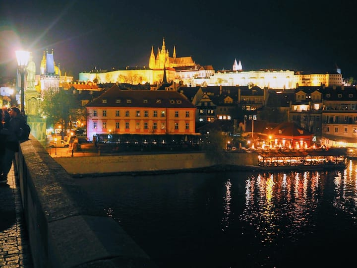 The Prague castle from the Ch. bridge