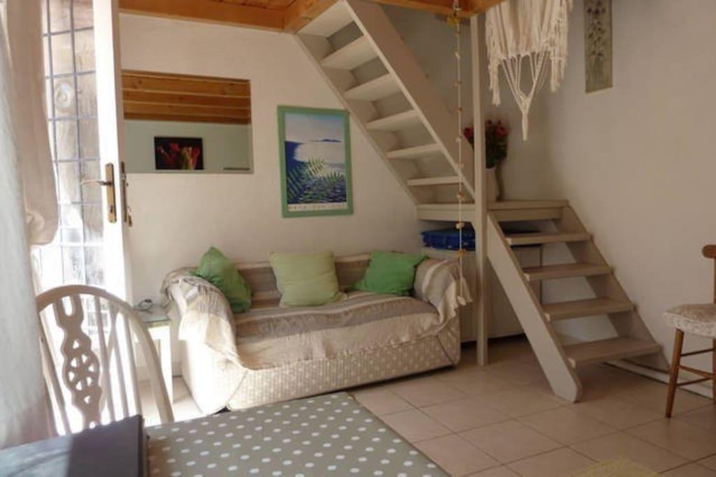 Living area in Dva