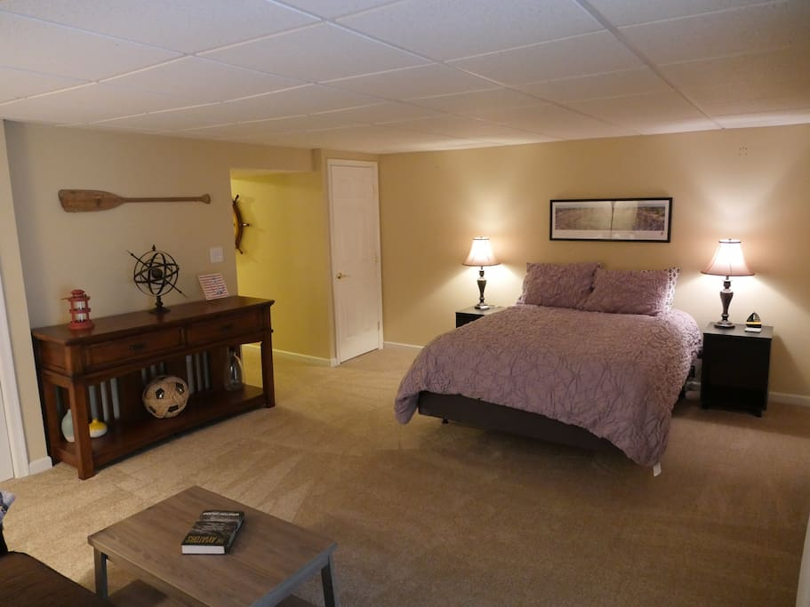 Bedroom #4 - Private basement suite with attached full bathroom.
