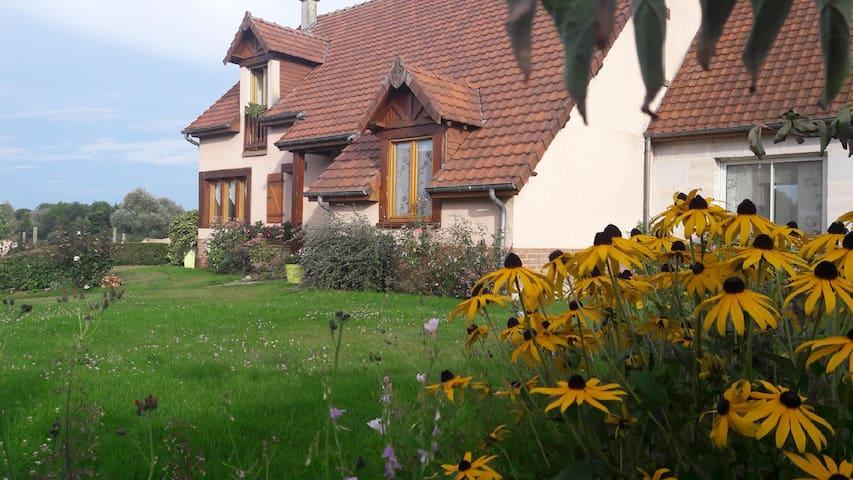 Aubigny, chambre d'hôte au bord de la Somme