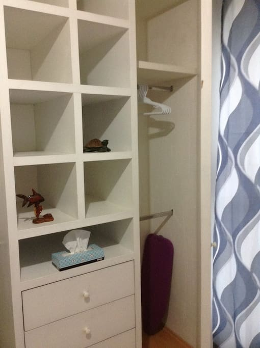 Amplio espacio de closet Wide closet