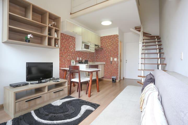 Duplex próx Berrini com Serviços Hoteleiros - São Paulo - Appartement