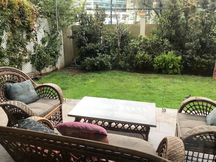 Family Apartment w/private garden & pool/La Dehesa