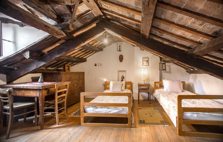 And two more beds on the attic.