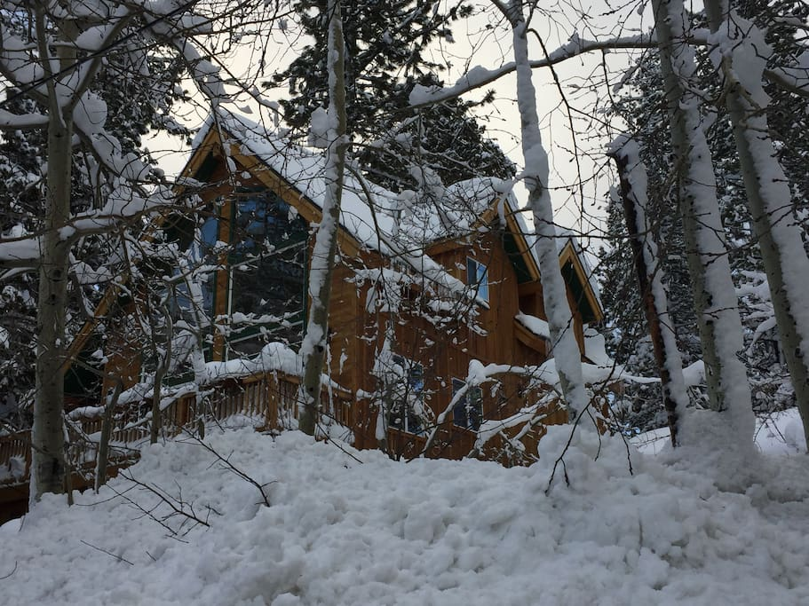 Lake Tahoe Chalet in 10 feet of snow 2017.