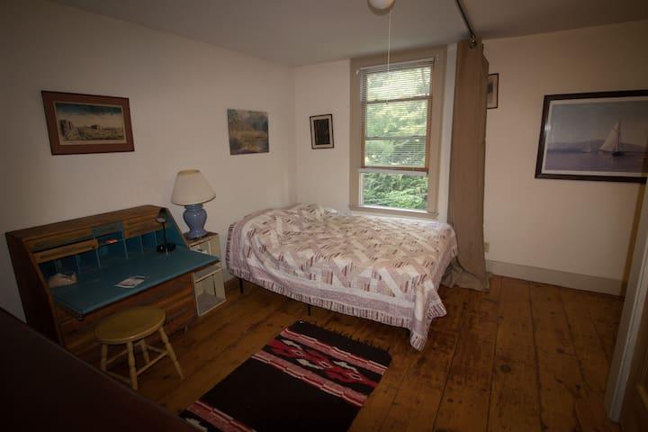 2nd floor room in Restored 1800's Village Duplex