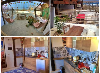 "Mancora beach front studio ""Flower Power"""