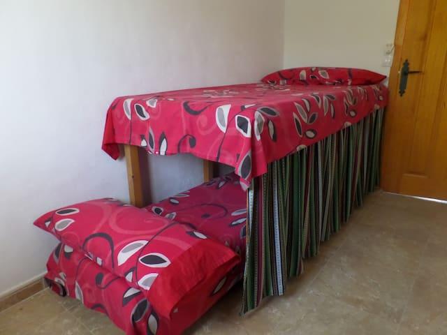 Habiatación 4, 2 camas tipo litera (apto para niños).