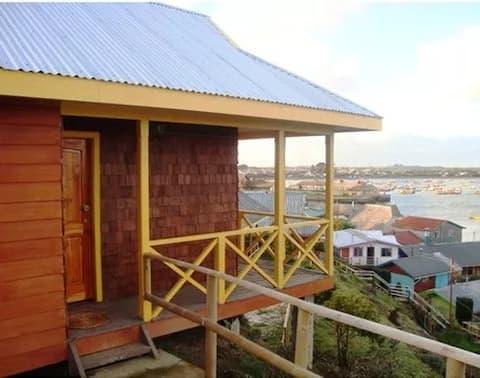 Cabaña con vista al mar en Carelmapu