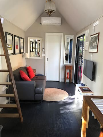 For a tiny house it's quite spacious