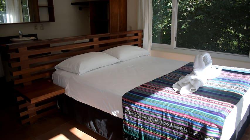 Second floor, master bedroom.  Queen sized bed.
