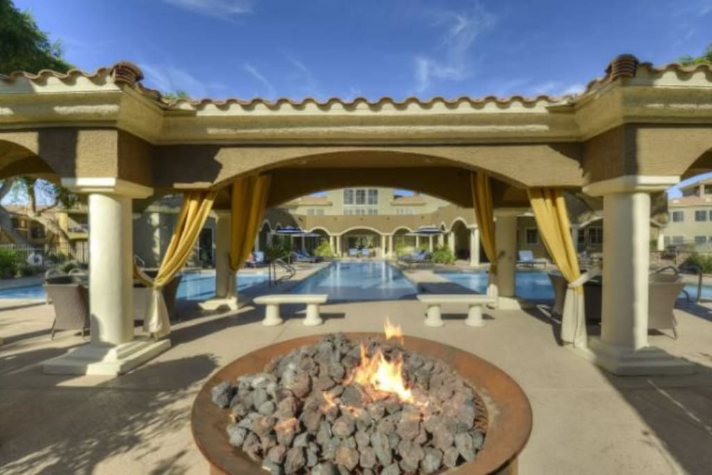 Fire Pit at the Main Pool