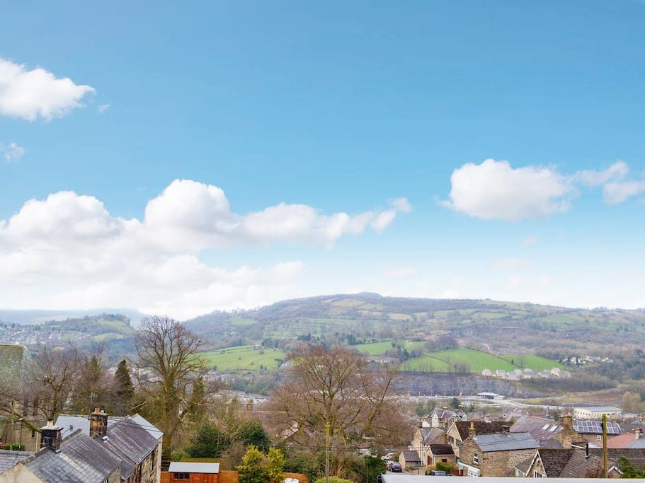 Stunning Views from open plan living area over Matlock.