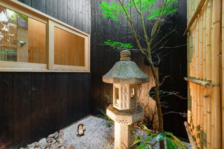 独享空间远离病毒 京都站步行仅5分,窗前公园樱花木,伊势丹百货电器城 新干线 JR地铁 最丰富便利