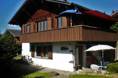 Chalet-style flat 20m from slopes! - Reichenbach im Kandertal