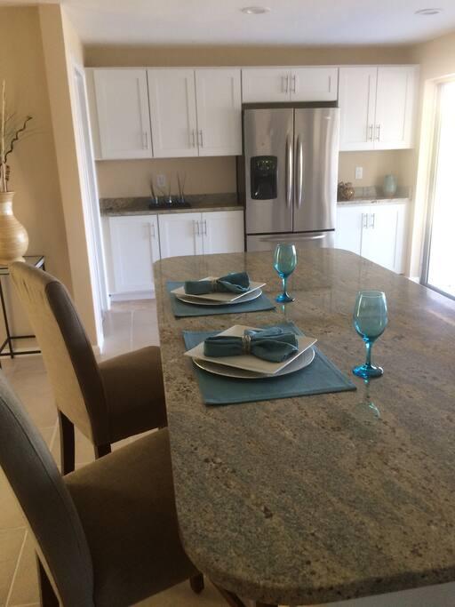 New granite tops and New kitchen