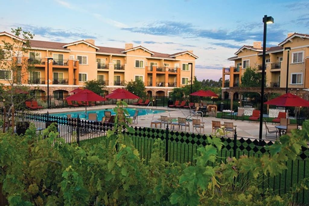 This is an overview of the Vino Bello Resort from the outside view.