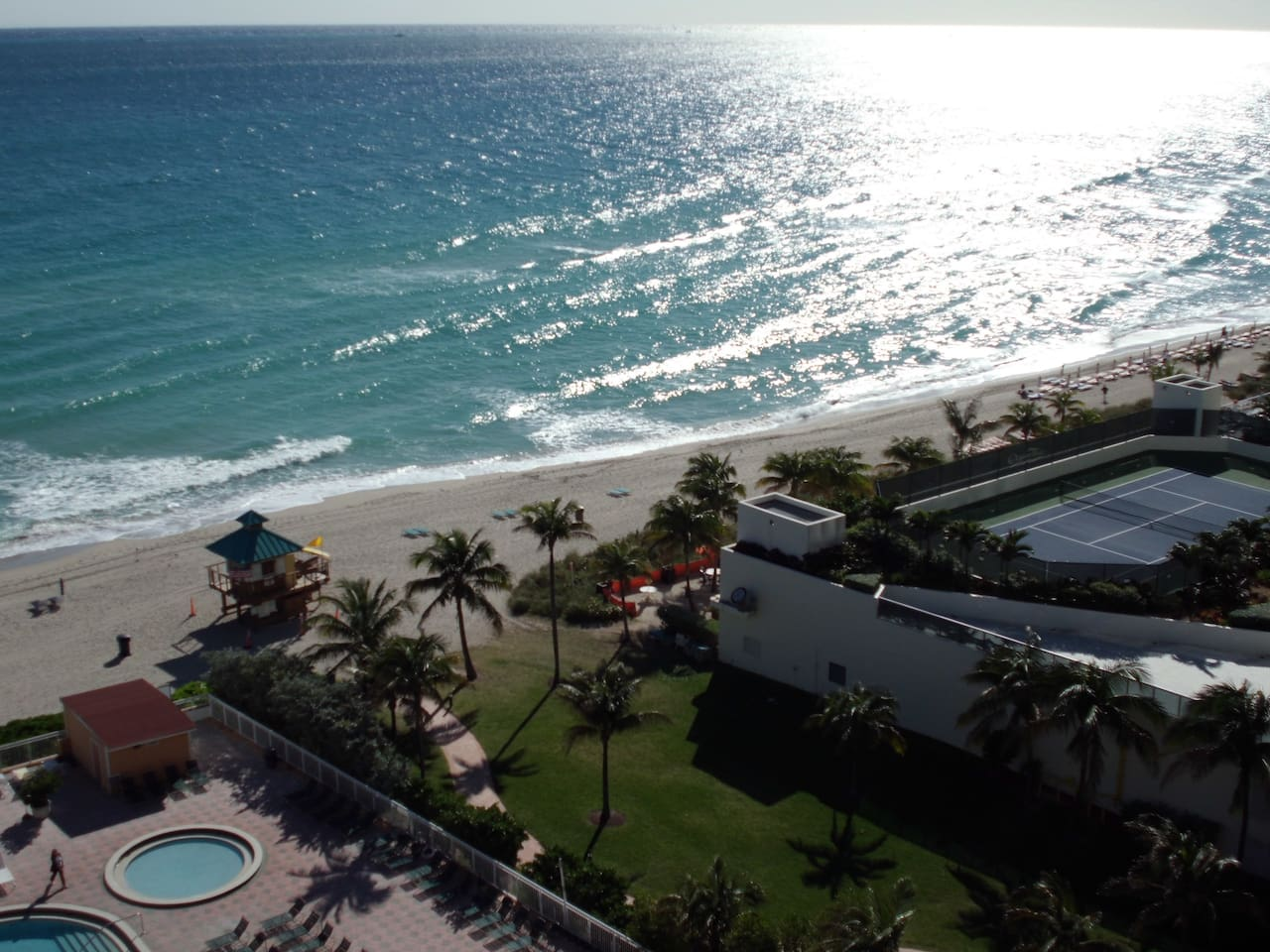 Very quite 11th last floor unit with balcony and great oceanviews (this view was taken from the unit)