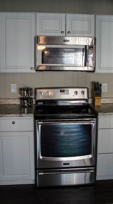 Convection oven and microwave.