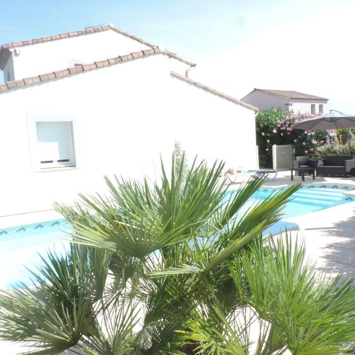 Villa avec piscine privée proche de Montpellier