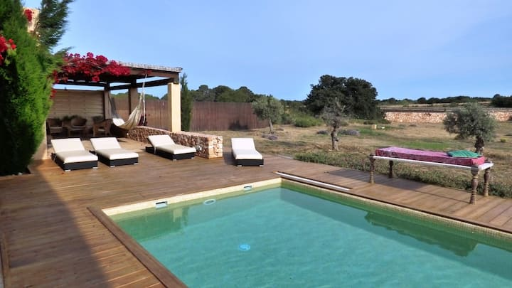 Villa with 5 bedrooms in Formentera, with private pool, furnished terrace and WiFi - 500 m from the beach