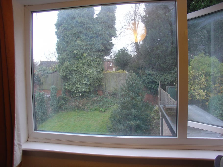 Overlooking rear garden