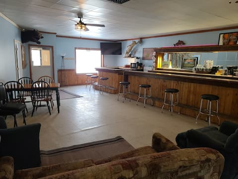 Jake's Bed & Bar on the ATV/Snowmobile Trail!