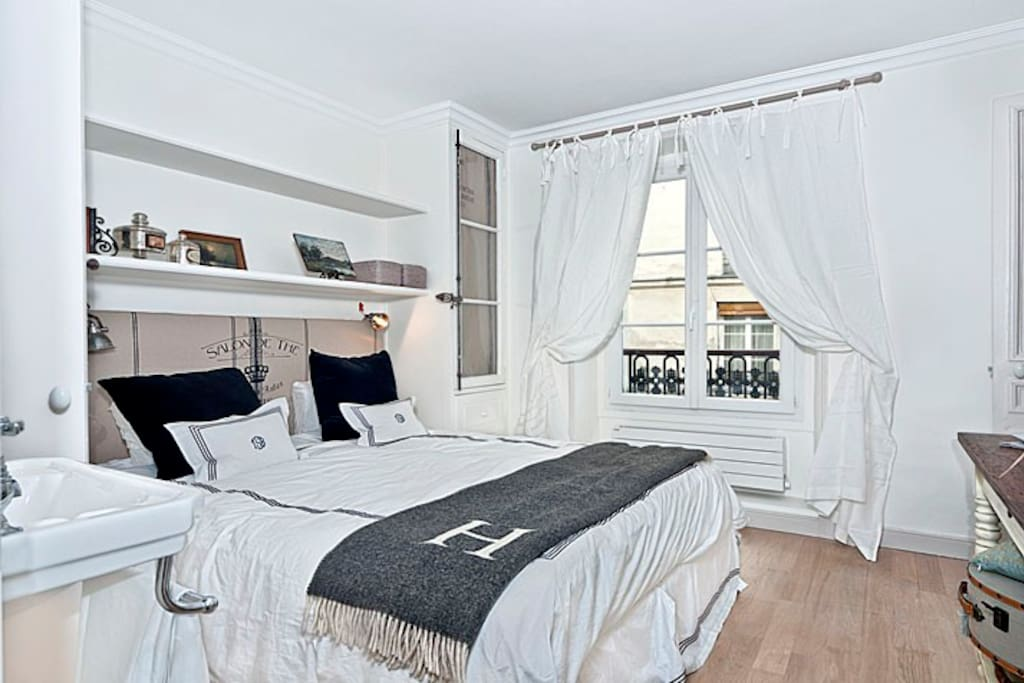 Bedroom with street view