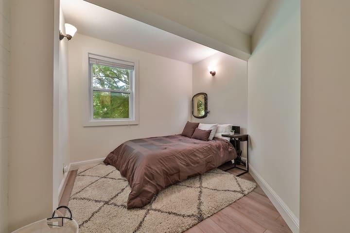 Spacious bedroom nook