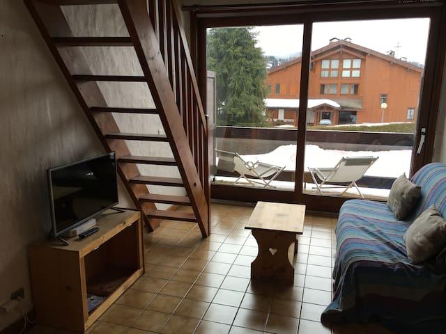 Sunny flat near the skilifts - Megève - Apartemen