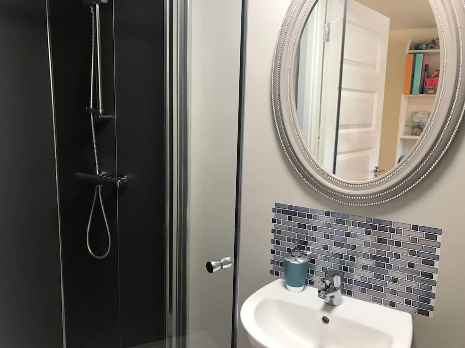 Own private shower room with electric shower and good water pressure
