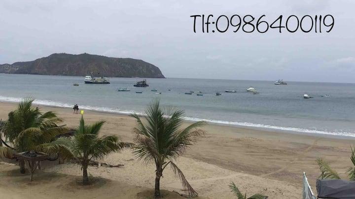 Departamento frente al mar planta alta 0986400119