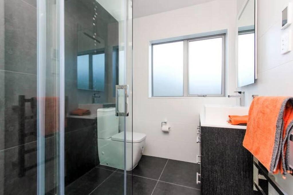 own shower/toilet