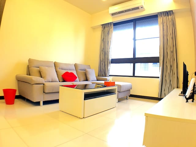 設計溫馨的家 2房間 / 近火車站/客運總站/百貨商圈/夜市 - Taoyuan District