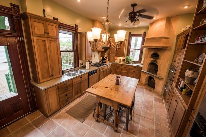 Spacious updated kitchen.