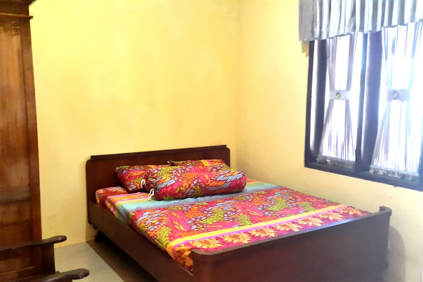 Clean and comfortable bedroom for 2 adult [+1 child] - 1 Bed [King Size]  - Air Conditioning in every room  - Chair  - Wardrobe